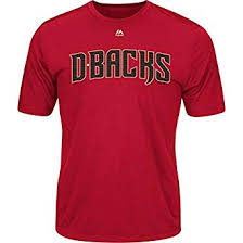 Crewneck Red Replica amp; Authentic Licensed Mlb T-shirt Officially Adult Arizona Wicking Diamondbacks cardinal Youth