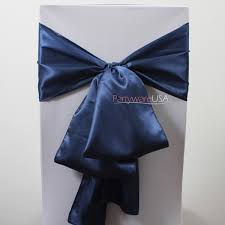 royal blue satin chair sashes 7 day delivery used navy blue chair sashes