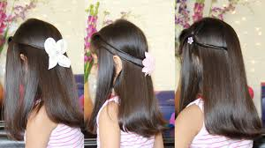 New Hair Style For Girls 3 simple & cute hairstyles youtube 8652 by wearticles.com