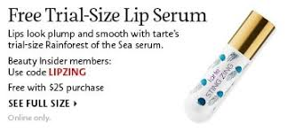 free trial size lip serum lips look plump and smooth with tarte s trial