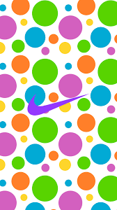Nike (colourful polka-dot pattern ...
