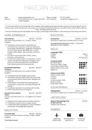 Resume Examples By Real People Screenwriter Resume Template
