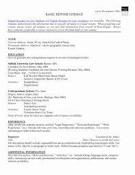 A Basic Resumes Sample Of Basic Resume Basic Sample Resume Fresh Keep It Simple