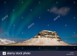 When To See The Northern Lights In Iceland 2015 Grundarfjorour Iceland Circa March 2015 Aurora Borealis