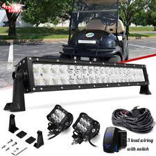 golf cart parts accessories for yamaha g27e for double row 20 22 straight led light bar combo kit ezgo txt express golf cart fits yamaha g27e