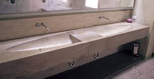 custom concrete master bath sink in san francisco ca concrete exchange