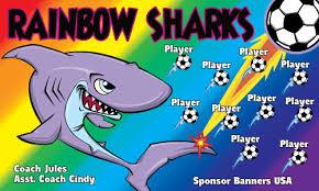 sharks rainbow vinyl soccer banner e z order sharks sharks rainbow vinyl soccer banner e z order