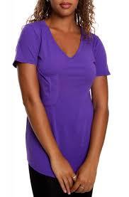 Venley Size Chart Womens Short Sleeve Slouch Pocket V Neck Soft Premium T Shirt In Purple