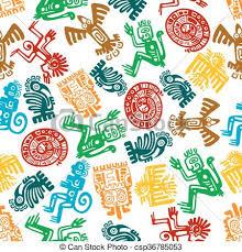 Mayan Patterns Mesmerizing Seamless Mayan And Aztec Pattern Of Animal Totems Ancient Animal