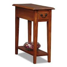 oak side table. Leick Chair Side End Table With Drawer In Medium Oak Finish, 9017-MED New