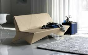 Sofa Design Idea With Wooden Leathered Materials Shaping The Origami