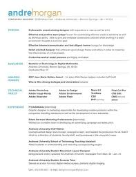 Simple Graphic Design Resume Gentileforda Com