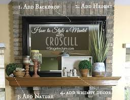 fireplace mantel decorating ideas easy