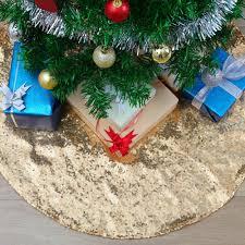 Silvertip Design Palmer Ak Soardream Christmas Tree Skirt 24 Inch Sequin Tree Skirt Mat Gold Christmas Tree Skirt Ornaments For Indoor Outdoor Christmas Decorations Home Holiday