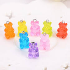 2019 resin gummy bear candy necklace charms very cute keychain pendant necklace pendant for diy decoration from kuanbao 26 16 dhgate com