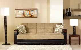 luna fulya brown convertible sofa bed
