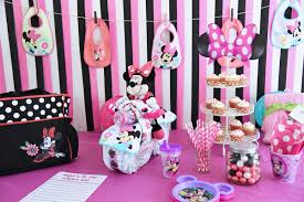 Minnie Mouse Baby Shower Decorations Minnie Mouse Baby Shower By Disney Baby Sarah Halstead