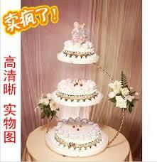 3 Tingkat Wedding Cake Berdiri Kue Putih Pemegang Kue Hidangan