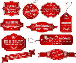 Christmas Labels Free Vector In Adobe Illustrator Ai Ai