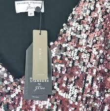J Crew Pink Universal Standard 3x Sequin Sleeve V Neck Shift T Shirt Short Cocktail Dress Size 26 Plus 3x 41 Off Retail