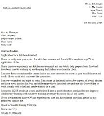 Writing A Cover Letter For A Kitchen Assistant Lettercv Com
