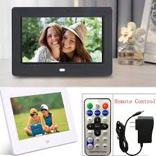 7 inch hd tft digital photo picture frame 4 player with remote control