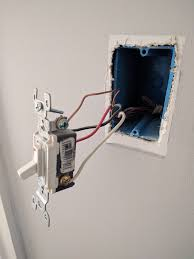4 way switch wiring power from light fixture to light switch switch 3 far end of hallway 4 way switch w hot wires black pigtailed in box