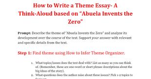model describe the theme of ldquo abuela invents the zero rdquo google docs