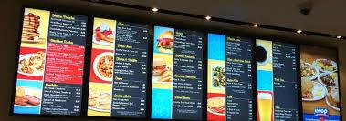 Menu Board Design Tips Digital Signage Hilton Displays