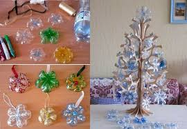 Decorated Plastic Bottles How to DIY Snowflake Ornaments from Plastic Bottles 15