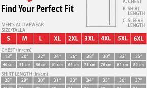 Hanes Nano Tee Size Chart
