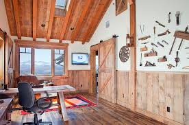 home office cabins. Stunning Mountain Views And Rustic Cabin Style Shape This Lovely Home Office Design Centre Cabins