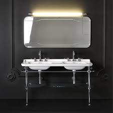 double console sink metal legs ideas architecture bathroom