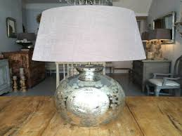 round fl mercury glass lamp with grey shade for home lighting ideas