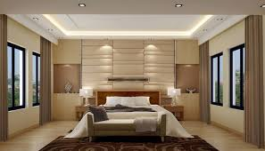 Small Picture Soft glow of lights and neutral palette keep this bedroom serene
