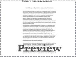methods of capital punishment essay custom paper help methods of capital punishment essay death penalty essays the torah is bar in no sense
