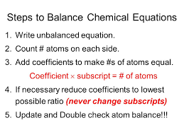 reactant entities are on left side and change into ppt chemistry how to balance chemical equation using algebra step