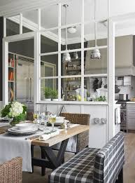 small kitchen dining room ideas office lobby. A Framed Glass Space Divider Separates The Dining And Kitchen Very Delicately Small Room Ideas Office Lobby H