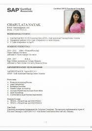 Sap Mm Fresher Resume Format Resume Template Easy Http Www