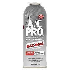 Acprocold Com Chart A C Pro Professional Formula Refrigerant With Max Seal 12