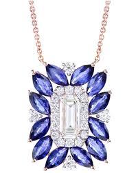 sapphire jewellery pendant