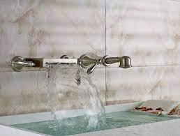 wall mount bathtub waterfall faucet