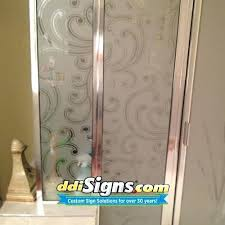 decal for glass door signs frosted shower custom