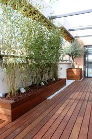 planter box with bamboo