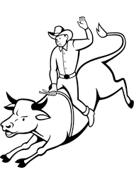 Small Picture Rodeo Bull Rider coloring page Free Printable Coloring Pages