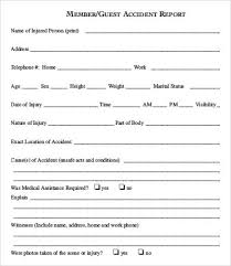 Accident Form Template Car Incident Report Form Elitaaisushico