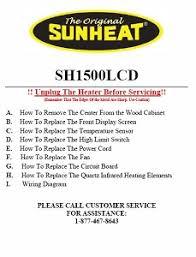 heater repair guides sunheat sh 1500 owners manual at Sunheat Heater Wiring Diagram