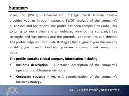 Business Swot Analysis Impressive PPT Vivus Inc VVUS Financial And Strategic SWOT Analysis R