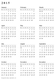 2015 monthly calendar free printable calendars and planners 2019 2020 and 2021