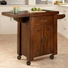 Wood Utility Cabinet Kitchen Storage Carts Cabinets